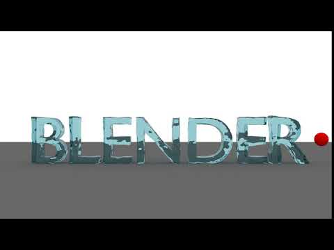 Water text animation in blender animation software