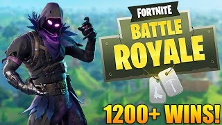 RAVEN SKIN OUT NOW!!! - 1200+ Wins - Fortnite Battle Royale Gameplay - (PS4 PRO)