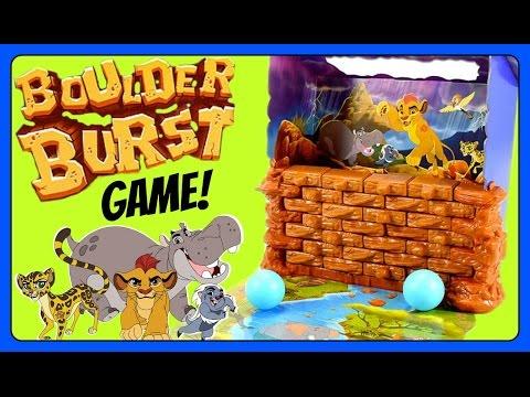The Lion Guard Boulder Burst GAME!  Kion, Bunga, Ono, Beshte, & Fuli!  Disney Junior Fun Games YouTu