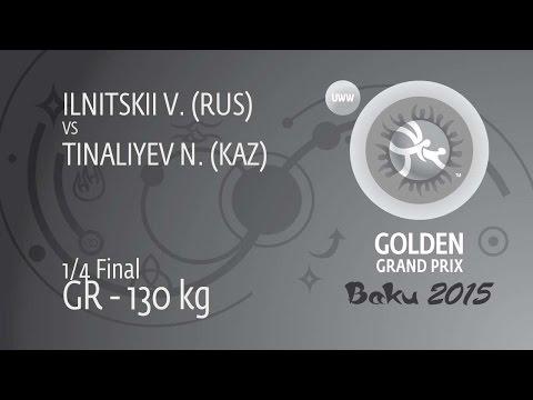 1/4 GR - 130 Kg: N. TINALIYEV (KAZ) Df. V. ILNITSKII (RUS), 4-1