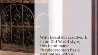 Iron Fireplace Screen - Lonestarwesterndecor.com