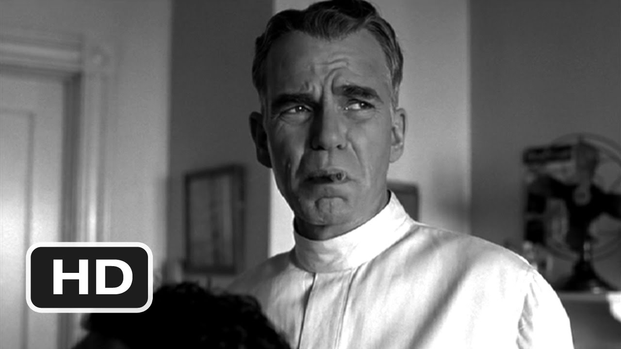 "Poster Image of 2001 Black and white film ""The man who wasn't there"""