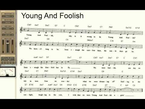 Young And Foolish playalong for Cornet Trumpet Vocal or any Bb instrument with lyrics