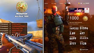 LEVEL 1000 CLASSES, STATS, and LEADERBOARDS! - UNLOCKING LEVEL 1000 in Call of Duty WW2 Multiplayer!