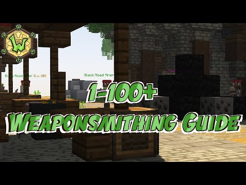1 – 100+ Weaponsmithing | Crafting Ingredient Guide | Wynncraft | Profession Guide