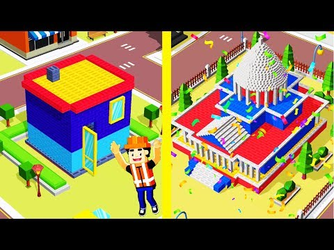 Idle Construction 3D! MAX LEVEL WORKERS, BUILDING EVOLUTION! PikaGuyy