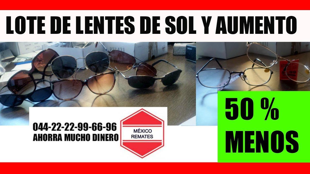 3c12f0b010 Lentes Para Sol Baratos Lotes mexico - MEXICO REMATES - YouTube
