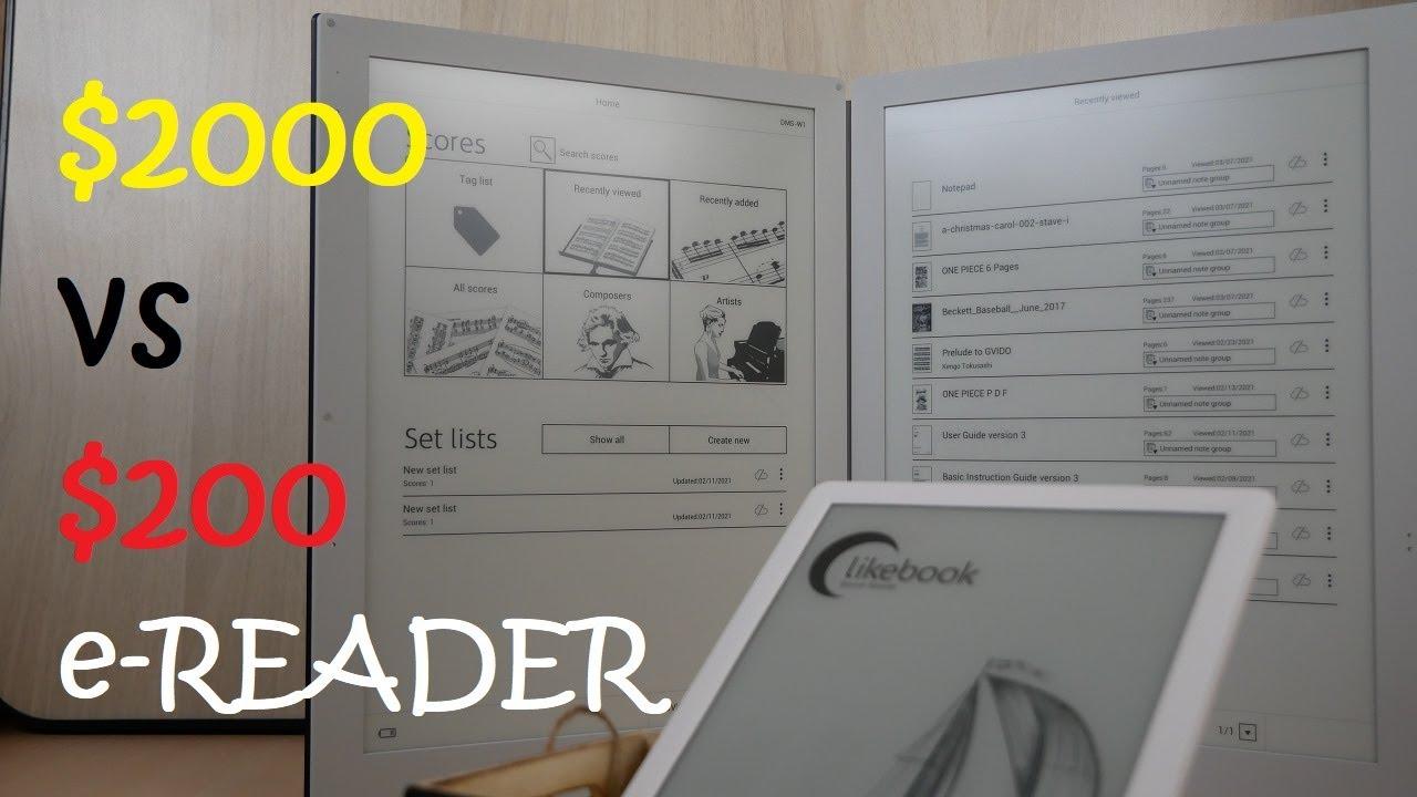 $2000 e-Reader vs $200 e-Reader: Key Differences