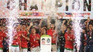 Selebrasi INDONESIA JUARA Piala AFF U19  (Angkat Piala)
