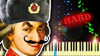 IF MOZART WAS RUSSIAN?? - Piano Tutorial - Stafaband