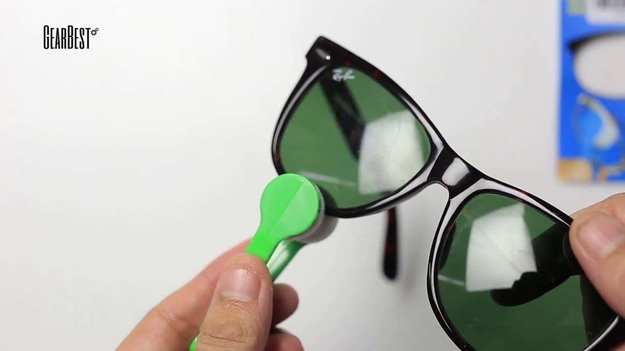 99508daeb Sun Glasses Eyeglass Microfiber Cleaning Brush Cleaner from GearBest.com