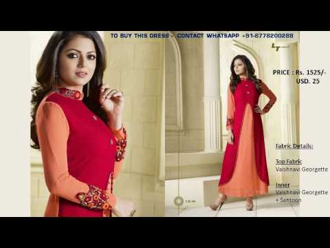 Buy Online (1.5 to 1.6) - Modern Fashionable  Women Long Kurti lehenga dress; New arrivals
