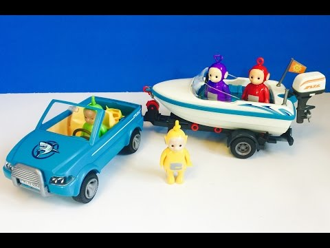 TELETUBBIES New Toy Boat With Working Motor And REAL FISH RELEASE!