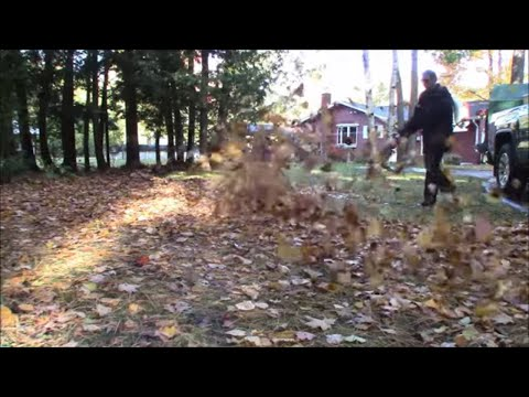 Bagging and Mulching Wet Leaves