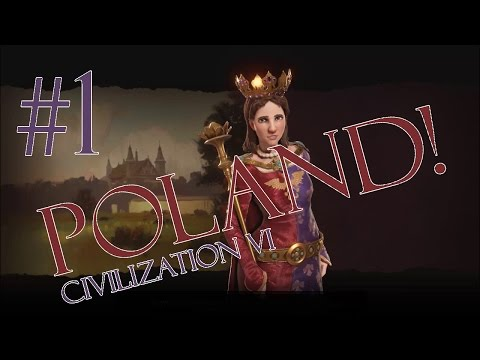 Civilization 6 Gameplay - Poland/Deity - Episode 1: A Frantic Start!
