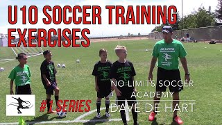 U10 Technical Training: First Touch and Passing Exercise