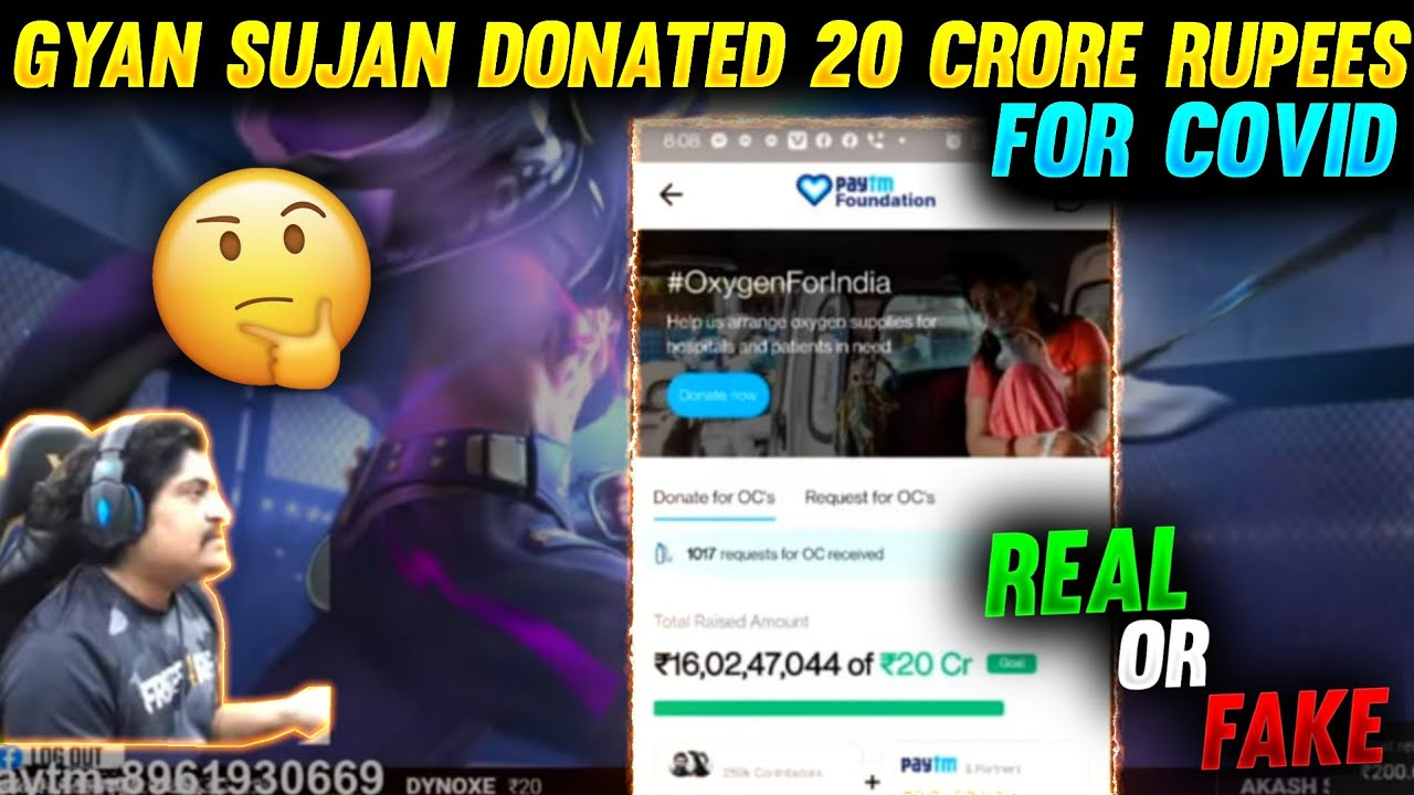 Did Gyan Gaming really Donate 20 Crores ? | Real or Fake news | Reality explained
