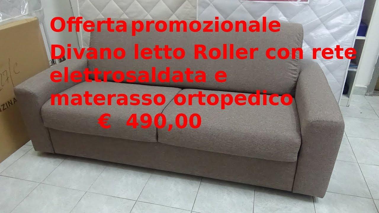 Divano Letto Con Materasso Ortopedico.Divano Roller Youtube