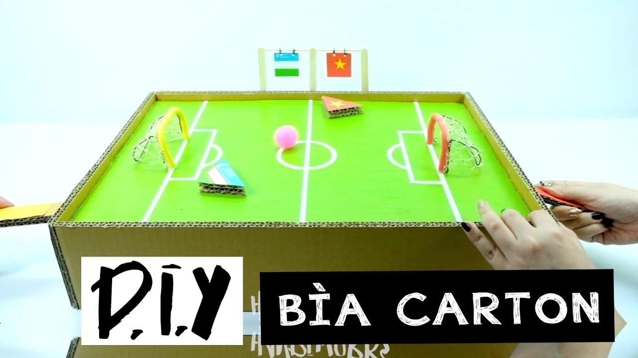 DIY Ngầu – Sân bóng mini từ bìa carton | Handi Work