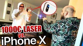1000€ LASER vs. iPhone X KAMERA! (Nicht nachmachen!) - Gadget Fun !