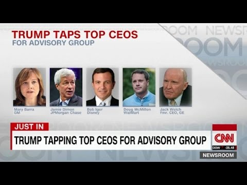 Trump tapping top CEOs for advisory group