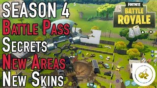 Fortnite Season 4 - Quick Look (SECRETS | Battle Pass Overview | Map Changes | New Skins)