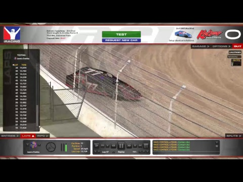 iRacing UMP Modified Kokomo Speedway Test