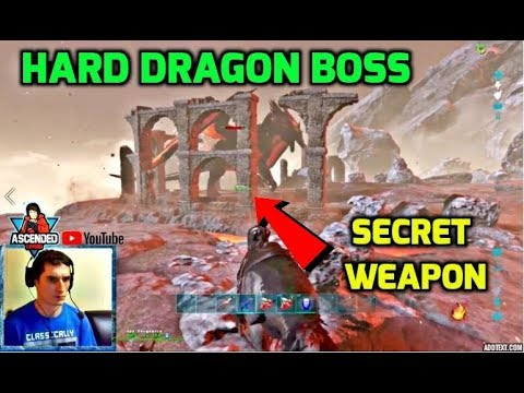 Easiest Way To OFFICIALLY STOMP OUT Hard Dragon Boss - LETSSSS GOOOOOO - Ark Survival Official PvP