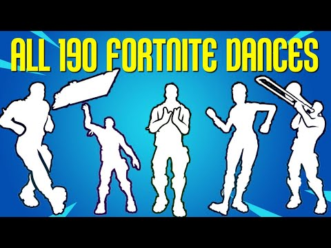 *ALL* 190 Fortnite Dances/Emotes [Season 1 To 9]