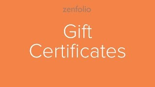 How to create online gift certificates for your clients