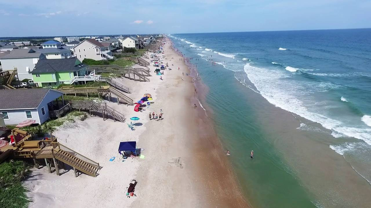 Pelicans Eye View Of Topsail Island From The Surf City