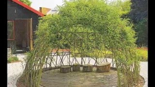 видео Декоративная садовая мельница: описание строительства