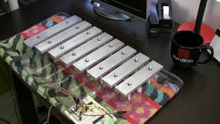 NerdKits Robotic Xylophone with Homemade Solenoids
