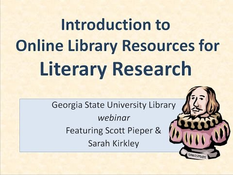 Introduction to Online Literature Research webinar