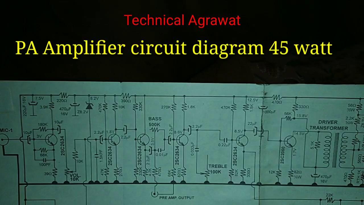 Pa Amplifier Circuit Diagram 45 Watt