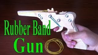 Rubber Band Gun With Wood, Full Or Semi Auto (homemade, Tutorial)