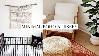 Nursery Tour | Before & After + Minimal & Boho