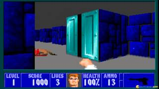 Wolfenstein 3D: Mortal Kombat edition gameplay (PC Game, 1993)