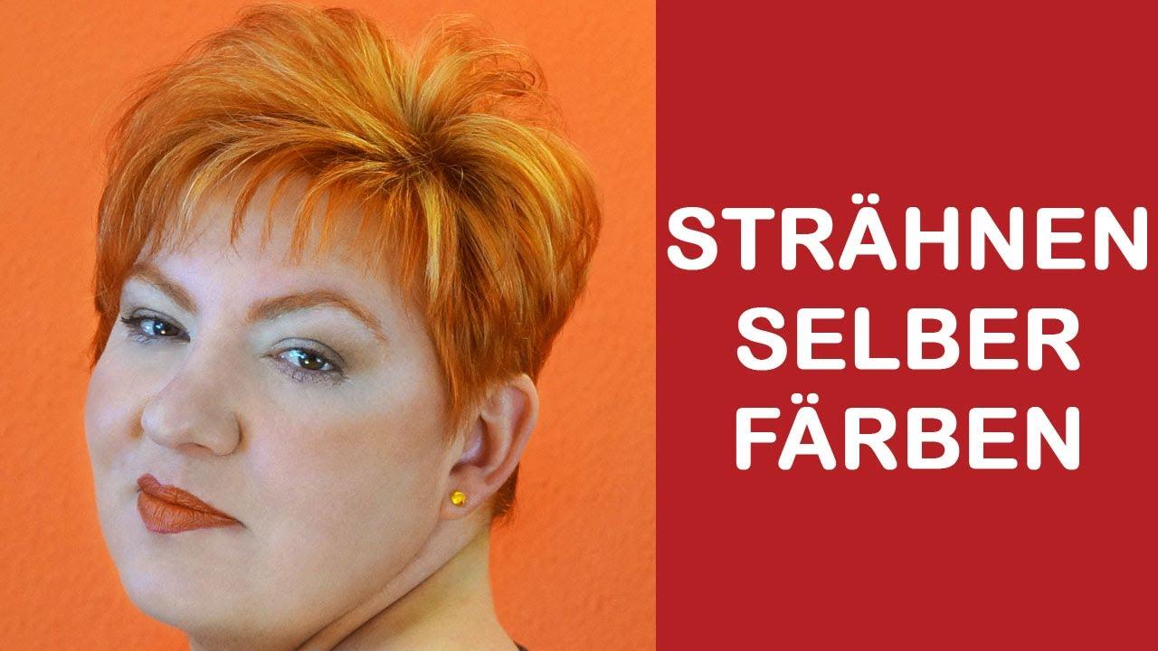 Strähnchen Mit Folie Selbst Färben Bei Kurze Haare Tipps Tricks