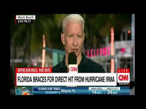 CNN Live coverage of Hurricane Irma with Anderson Cooper in