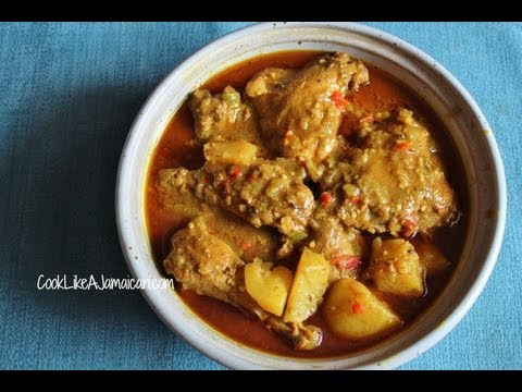 Jamaican Curry Chicken Recipe Video Youtube