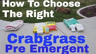 Best pre emergent.  Crabgrass control with pre emergent herbicide. DIY How to choose the right Pre M