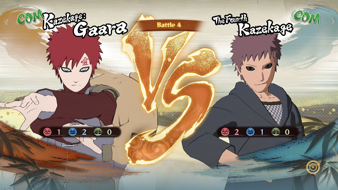 naruto shippuden ultimate ninja storm 4 kazekage gaara vs the