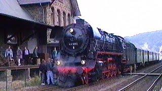 Mit Dampflok 44 1093 zum Dampfloktreffen in Gerolstein 1994