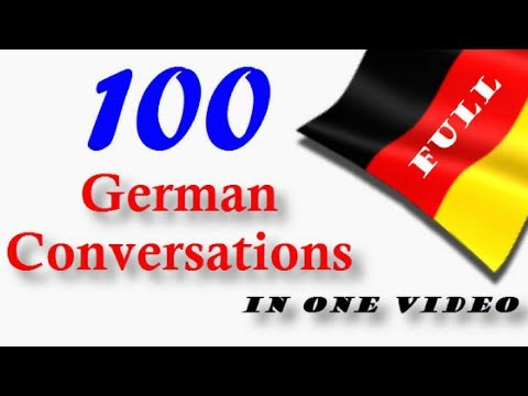 100 German Conversations│in One Video