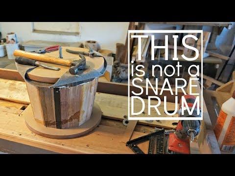 DJEMBE BUILD w/ SIMPLE TOOLS & SCRAP WOOD, Part 1