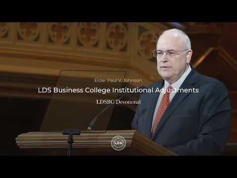 Elder Paul V. Johnson: LDS Business College Institutional Adjustments