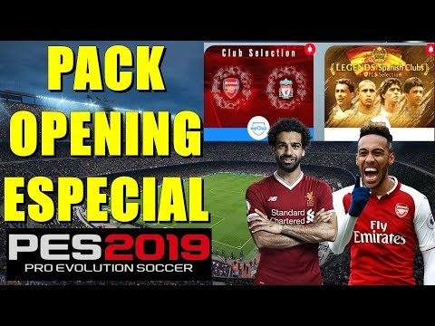 PES 2019 - PACK OPENING ESPECIAL #ARSENAL #LIVERPOOL