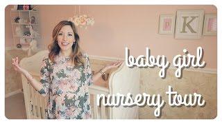 baby girl nursery tour | soft + sweet vintage rose theme