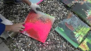 Effekter med Spray og Stencils - Inspiration og ideer.